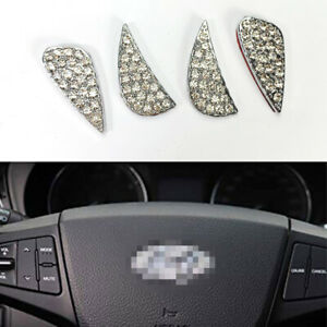 Crystal Diamond Steering Wheel Emblem Insert Sticker For 12 19 Elantra Sonata