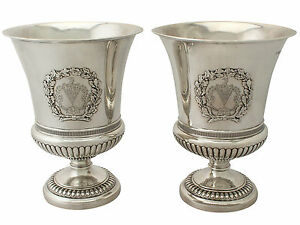 Antique George Iii Sterling Silver Wine Coolers By Paul Storr