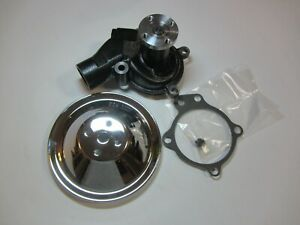 1955 1962 Chevrolet 235 261 Short Shaft Water Pump W chrome Pulley Gm Il6 Chevy