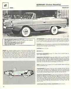 1967 Amphicar 1967 Ac 428 Convertible Article Must See