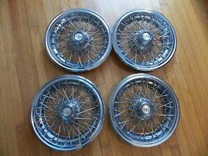 Chevy Caprice 15 Oem Wire Hubcaps