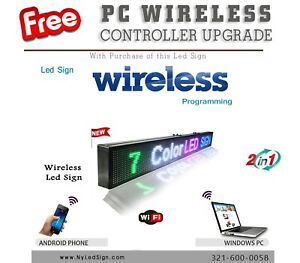 Led Sign Programmable Scrolling Message 15 X 78 7 Colors Wifi Wireless