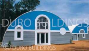 Durospan Steel 30x33x14 Metal Quonset Ranch Building Custom Kit Open Ends Direct
