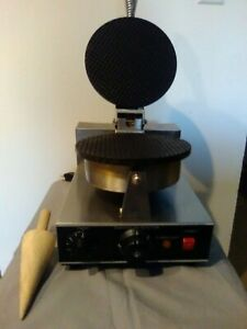 Waffle Cone Maker Baker Commercial Ice With Wooden Ice Cream Cone Form Tool