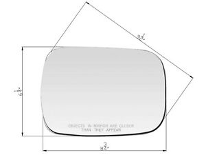 For 73 96 Blazer Suburban C K Series Mirror Glass W Adhesive Pads Passenger Side