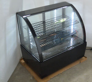 110v Countertop Refrigerated Show Case Cake Display Cabinet 100l Black