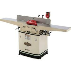 Shop Fox W1858 8 X 72 Dovetail Jointer With Helical Cutterhead And Mobile Base