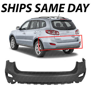 New Primered Rear Bumper Cover Replacement For 2010 2011 2012 Hyundai Santa Fe
