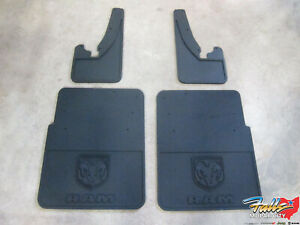 2010 2018 Dodge Ram Front Rear Heavy Dually Rubber Mud Flap Set New Mopar Oem