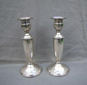 Sterling Silver Mueck And Carey Candle Holders