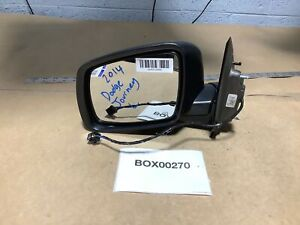 2014 Dodge Journey Left Driver Rear View Distance Mirror Black Heated 14 Oem