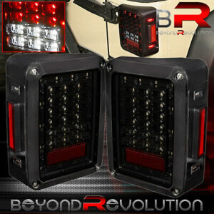 Smoke Lens Led Tail Lights Lamps Brake Reverse Lamps For Jeep Wrangler Jk 07 17