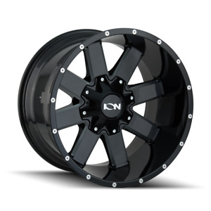 20x9 Ion 141 35 Mt Black Wheel And Tire Package Set 8x170 Ford F250 Super Duty
