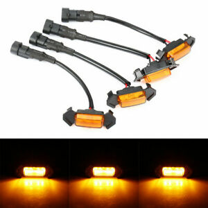 4 Marker Led Amber Grille Grill Lights Decoration For 2016 2020 Toyota Tacoma