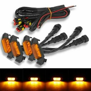 4 Marker Led Amber Grille Grill Lights Decoration For 2016 2019 Toyota Tacoma