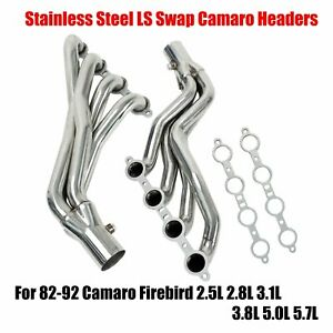 For Ls Swap Camaro Firebird Headers 82 92 Third Gen F body Stainless Steel