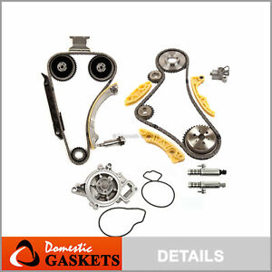 Timing Chain Kit Vct Selenoid Actuator Gear Water Pump Fits Gm 2 2l 2 4 Ecotec