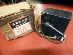 Vintage 1930 s 1940 s Arrow Motor Driven Emergency Hazard Flasher Lights