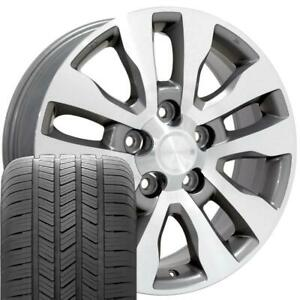 20 Rims Tires Fit Toyota Tundra Silver Mach D Wheels Gy Tires 69533