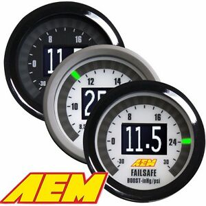 Aem Universal Wideband Failsafe Gauge Air Fuel Ratios And Manifold Pressure