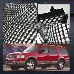 Hood Mesh Grill For Ford Expedition 2003 2004 2005 2006 Gloss Black Steel Grille