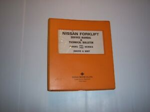 Nissan Forklift Service Manual Model F01 F02 Forklift Manual