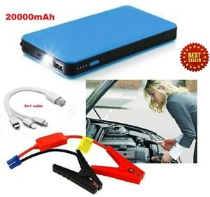Portable Car Mini Slim 20000mah Jump Starter Engine Battery Charger Power Bank