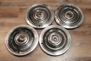 1967 Chrysler Imperial Crown Lebaron 15 Wheel Hub Caps Set Of 4 Oem Mopar