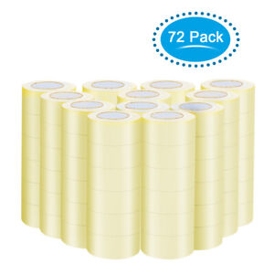 72 Rolls Clear Tape For Box Shipping Packing Package 1 9 x110 Yards 330 Ft