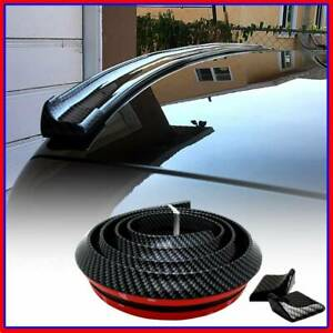 Rear Roof Trunk Spoiler Wing Tail Lip Universal Carbon Fiber Sporty Look Trim