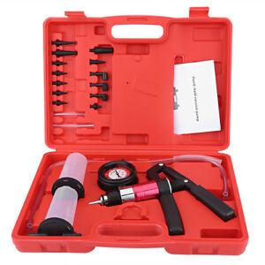 Car Hand Held Vacuum Pressure Pump Tester Kit For Brake Fluid Bleeder Tool Kit