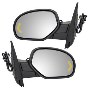 Power Mirrors Set Fits 07 14 Silverado Sierra Performance Upgrade Heated Signal