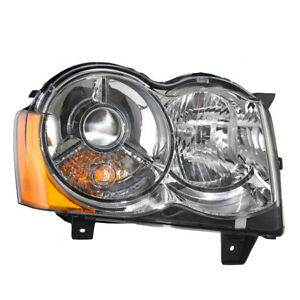 Headlight Assembly For 08 10 Jeep Grand Cherokee Passengers Hid Lens 55157484ah