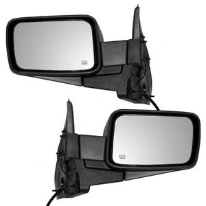 Pair Side View Mirrors For 06 10 Jeep Commander Suv Power Heated Textured Set