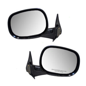 Pair Mirrors For 98 02 Dodge Ram Pickup Truck Manual Set 55076479ac 55076478ac