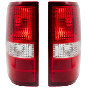 04 08 Ford F 150 Styleside Pickup Truck Set Of Taillights Clear Lens