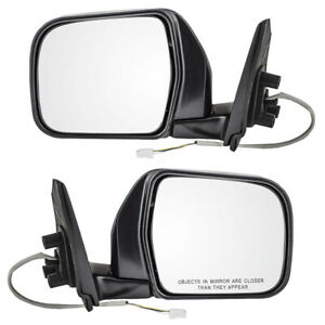 Fits Toyota T100 93 98 Truck Set Of Side View Power Black Chrome Mirrors