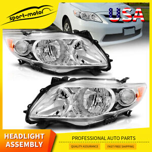 Headlights For 2009 2010 Toyota Corolla Headlamps Replacement Pair Left right