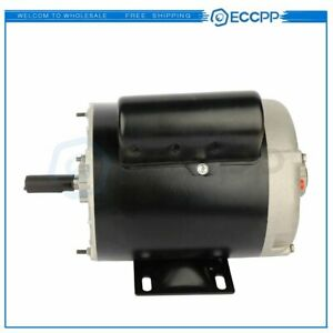 1 Hp Air Compressor Electric Motor 56 Frame 3450 Rpm Single Phase New 60 Hz
