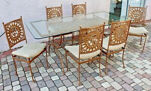 Arthur Umanoff 7 Pc Mayan Heavy Iron Dining Set For Shaver Howard 1960 S