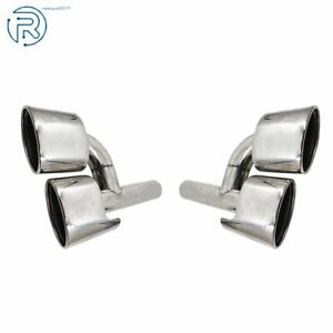 For Mercedes benz C classs W204 C300 C350 C63 Amg Style Exhaust Muffler Pipe Tip