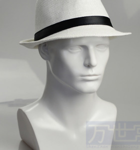 Top Quality Fiberglass White Male Mannequin Head For Wig Hat glasses Display