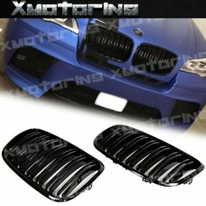 Gloss Black M Tech Replace Front Nose Grille Fit 2008 2013 Bmw E70 E71 X5 X6 Suv
