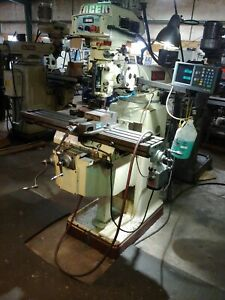 Acer Manual Milling With Vector Drive Spindle Servo Power Feed Power Draw Bar