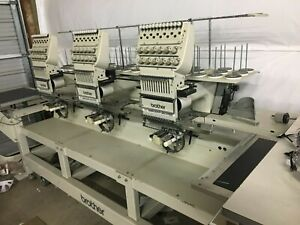 Brother 3 Head Industrial Embroidery Machine
