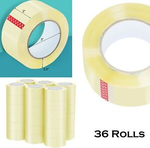 36 Rolls Packing Tape 110 Yards Clear Sealing Tape 2 Inch Carton Packaging New