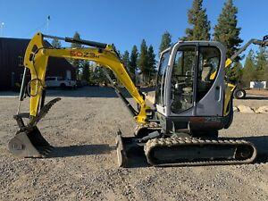 2012 Wacker Neuson 50z3 Vds Mini Excavator Thumb Bucket Coupler Heat Ac