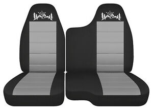 Car Seat Covers Black Silver Mountain Fits 98 03 Ford Ranger 60 40 Bench Seat