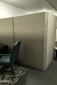 6 Office Partition Walls For Cubicles Gray Fabric