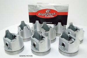 71 72 73 74 75 76 77 78 Ford Mercury 6 6l 400 V8 8 Pistons And Moly Ring Set